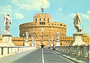 St Angelo Castle and Bridge Rome Italy Postcard cs3283 (Image1)