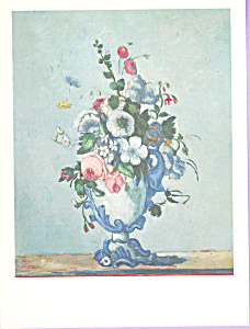 Vase of Flowers Paul Cezanne Postcard cs3311 (Image1)