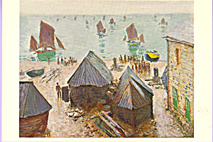Boats in Winter Quarters Claude Monet Postcard cs3321 (Image1)