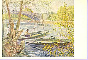 Fischfang im Fruhling Vincent Van Gogh Postcard cs3329 (Image1)