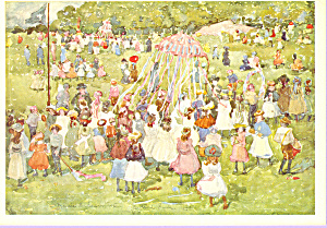 May Day Central Park Maurice Prendergast Postcard cs3358 (Image1)