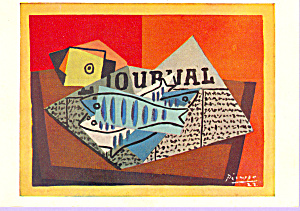Still Life with Fish Pablo Picasso Postcard cs3359 (Image1)