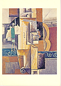 Violin and Glass Pablo Picasso Postcard cs3360 (Image1)