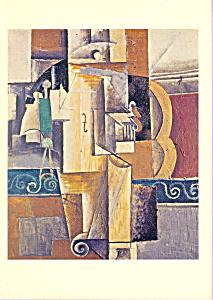 Violin and Glass Pablo Picasso Postcard cs3360 (Image1)