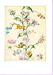 Design for Woven Silk  Anna Maria Garthwaite Postcard cs3373 (Image1)