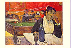 Au Cafe Mme Ginoux Paul Gauguin Postcard cs3375 (Image1)