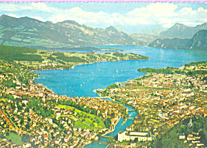 Aerial View With Lake Of Lucerne Switzerland Cs3570