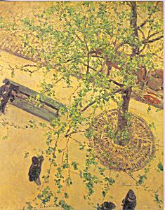 Boulevard vu d en haut Gustave Caillebott Postcard cs3867 (Image1)