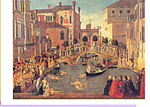 Miracolo della reliquia della Croce Postcard cs3857 (Image1)