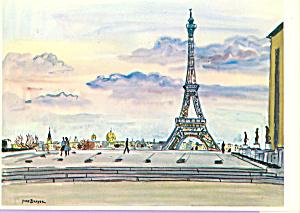 La Tour Eiffel vue du Palais de Chaillot Postcard cs3862 (Image1)
