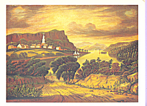 The Hudson Valley Sunset Thomas Chambers Postcard cs3871 (Image1)
