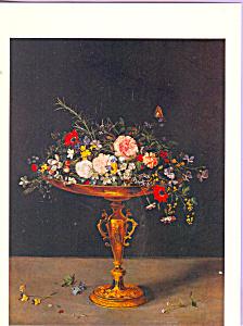 An Arrangement of Flowers Jan Brueghel Postcard cs3879 (Image1)