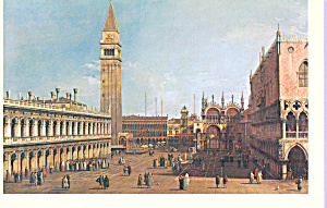 The Piazzetta Venice Looking North Canaletto Postcard cs3884 (Image1)