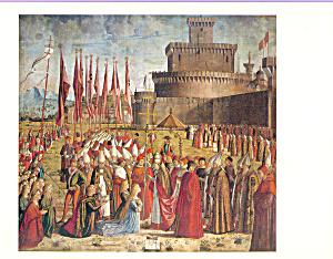 Incontro dei pellegrini col papa Vittore Carpaccio Postcard cs3888 (Image1)