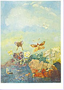 Butterflies Odilon Redon Postcard cs3891 (Image1)