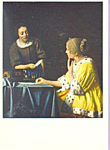 Mistress and Maid Johannes Vermeer Postcard cs3895 (Image1)