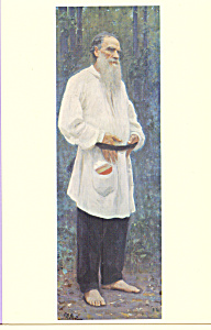 Portrait of Tolstoy  Ilya Efimovich Repin Postcard cs3896 (Image1)