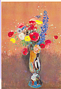 Vase of Flowers Redon Postcard cs3898 (Image1)