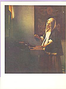 A Woman Weighing Gold Johannes Vermeer cs3899 (Image1)