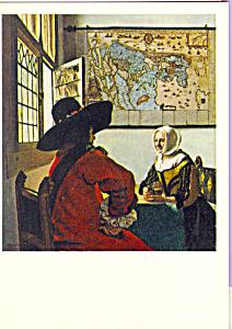 Offiicer and Laughing Girl Johannes Vermeer Postcard cs3901 (Image1)