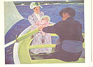 The Boating Party  Mary Cassatt Postcard cs3908 (Image1)