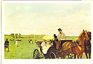 Carriages at the Races  Edgar Degas Postcard cs3911 (Image1)