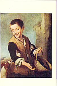 Boy with a Dog Bartolome Esteban Murillo Postcard cs3916 (Image1)