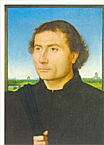 Portrait of a Man Hans Memling Postcard cs3918 (Image1)