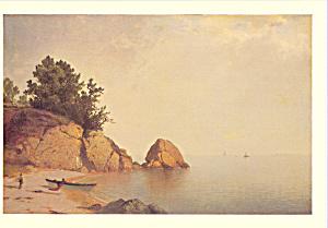 Beach at Newport John Frederick Kensett Postcard cs3921 (Image1)
