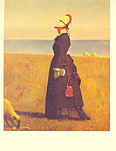 Lambs Nantucket Eastman Johnson Postcard cs3924 (Image1)