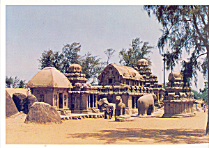 Indian Temple Styles,Mahabalipuram (Image1)