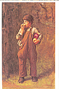 Back From The Orchard Eastman Johnson Postcard cs3958 (Image1)