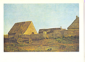 The Farm Charles Francois Daubigny Postcard cs3967 (Image1)