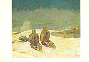 Below Zero Winslow Homer Postcard cs3971 (Image1)