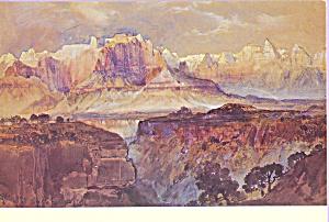 Cliffs of the Rio Virgin Utah Thomas Moran Postcard cs3980 (Image1)