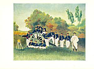 Artillerymen Henri Rousseau Postcard cs3982 (Image1)