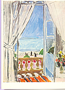 Window at Nice Henri Matisse Postcard cs3985 (Image1)