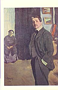 Portrait of Sergei Diaghilve with his Nurse Postcard cs3987 (Image1)