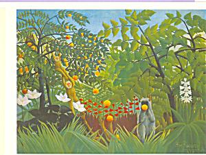 Exotic Landscape Henri Rousseau Postcard cs3990 (Image1)