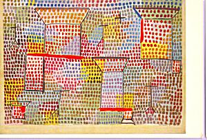 Pillars and Crosses Paul Klee Postcard cs4002 (Image1)