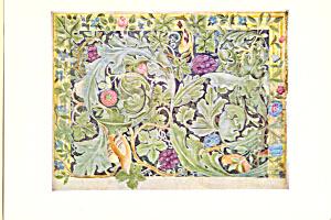 Design for Tapestry William Morris Postcard cs4004 (Image1)