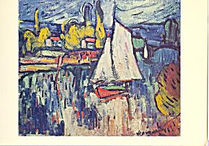 View of the Seine Maurice de Vlaminck ostcard cs4006 (Image1)