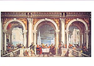 Convito in casa Levi Paolo Caliari Postcard cs4007 (Image1)