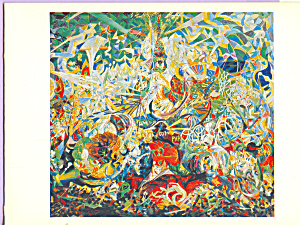 Battle of Lights Coney Island Joseph Stella Postcard cs4009 (Image1)