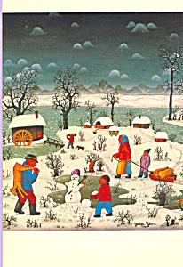 The Night Before Christmas Josip Generalic Postcard cs4018 (Image1)