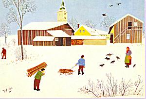 Ein Wintertag Joseph Wahl Postcard cs4027 (Image1)