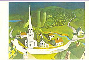 Midnight Ride of Paul Revere Grant Wood Postcard cs4098 (Image1)