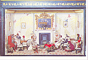 Drawing Room From a Doll s House Postcard cs4101 (Image1)
