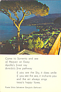 Poem Come to Sorrento Italy cs4158 (Image1)