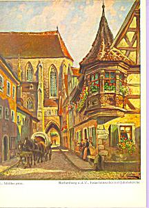 Rothenburg o d T Germany L Mossler Postcard cs4226 (Image1)